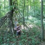 Das eigene Indianerzelt im Wald