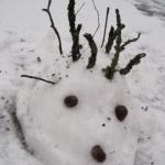 Schnee-Igel statt Schneemann