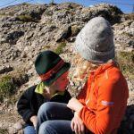 Outdoor Kinder sind mit dem Meindl Snap Junior Mid GTX auf das Hochgrat gewandert