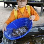 Goldwaschen mit Outdoor Kindern im Thüringer Wald