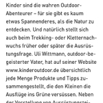 Kinderoutdoor in der Outdoor Guide Sommer 2013