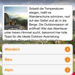 Gratis Outdoor App von Sport Scheck