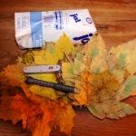 Serie Bastelideen Herbst: Eine Herbstlaub-Vase
