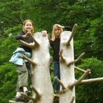 Drei mal Spaß auf dem Waldspielplatz
