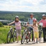 Familien Radtour auf einem historischen Handelsweg