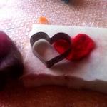Filzen mit Kindern: Ein Herz