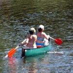 Mit dem Kanu auf dem Rheinsberger Rhin