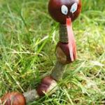 Basteln mit Kastanien: Eine Marionetten Schlange