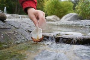 Was heisst hier Nuss-Schale? Bei uns sticht eine Kastanien Schale in See! Foto (c) KInderoutdoor.de
