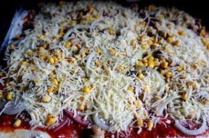So sieht die fertige Kartoffelpizza aus.  foto (c) kinderoutdoor.de