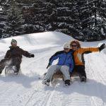 Schlitten fahren auf drei tollen Bergen
