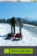 Die Rodel App von Bruckmann stellt 62 tolle Rodelgebiete in den Alpen vor.  Foto (c) Bruckmannverlag