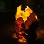 Windlicht basteln mit Herbstlaub