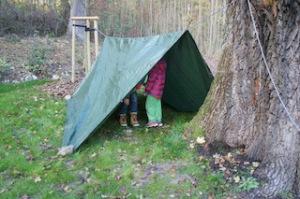 Fertig ist das Zelt! Foto (c) Kinderoutdoor.de