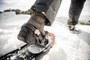 Tourt im Schnee hoch: Der Hanwag Winterstiefel Fjäll Extreme GTX. foto (c) hanwag