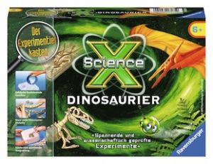 Von Ravensburger kommt ein toller Experimentierkasten zum Thema Dinos. Der kommt sicher sehr gut an.  Foto (c) ravensburger