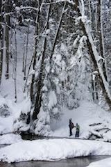 Geocaching im Winter. Da sind wahre Outdoorer gefordert.  Foto (c) Kinderoutdoor.de