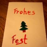 Weihnachtskarten mit den Kindern selbst basteln