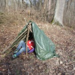 Ausflüge mit Kindern: Ein Zelt im Wald