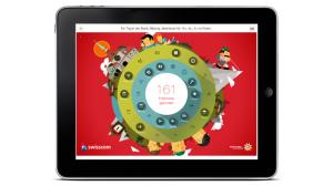 Auch auf dem Tablet läuft die preisgekrönte App von Schweiz Tourismus.  Foto (c) Schweiz Tourismus