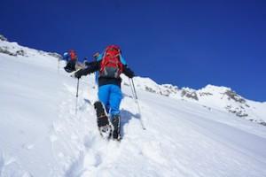 Auf der Seiser Alm gibt es für jeden Schneeschuhwanderer die passende Tour.  Foto (c) kinderoutdoor.de