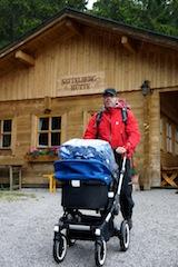 Bugaboo Buffallo: Auch bei schlechtem Wetter gut zu manövrieren und schützt das Baby perfekt.  Foto (c) kinderoutdoor.de