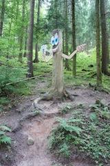 Raus aus dem Wohnzimmer! Veranstaltet doch eine Schnitzeljagd im Wald am Kindergeburtstag.   Foto (c) kinderoutdoor.de