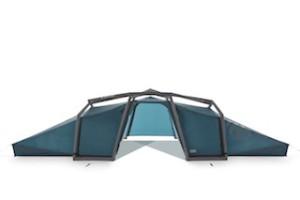 Zelte gibt es viele, aber nur das Nais von Heimatplanet lässt sich in kürzester Zeit aufblasen und bietet Platz für vier bis sechs Personen.  Foto (c) heimatplanet.com