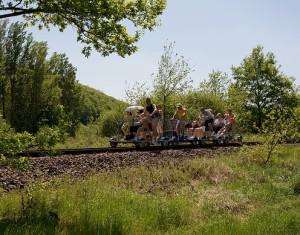 Mit der Draisine durch das Pfälzer Bergland radeln. Davon schwärmen die Kinder noch lange.  Foto (c) Draisinentour (c) Pfälzer Bergland