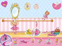 """Die App """"Prinzessin Lillifee Ballettzauber- Bildergeschichte, Tanzspiel, Stickerzauber"""" bietet den Mädchen eine verzauberte Welt in rosa.  Foto (c) blue ocean ag"""