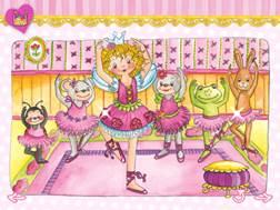 """Auf drei Ebenen spielt sich die App """"Prinzessin Lillifee Ballettzauber- Bildergeschichte, Tanzspiel, Stickerzauber"""" ab.  Foto (c) blue ocean ag"""