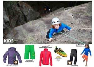 Kaum ist es draussen endlich schön, wollen die Kinder klettern gehn!  Foto (c) norrona und andere Hersteller