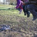 Schnitzeljagd wie anno dazumal: Alte Kinderspiele