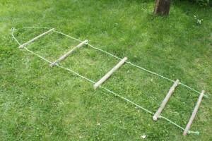 Fertig sind wir mit dem Strickleiter bauen. Foto (c) kinderoutdoor.de