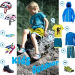 Kinderkleidung, Schwimmbrillen, Wanderschuhe: Alles für draussen!
