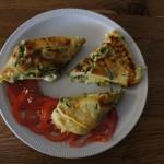 Spitzwegerich Omelett: Ein bißchen Gras muss sein!