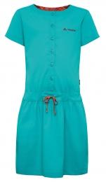 So grün kann Outdoorkleidung für Kinder sein: Vaude Girls Uruca Dress. Foto (c) Vaude