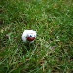 Kastanienfiguren basteln: Ein liebes Schaf