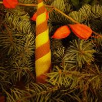 Fertig ist unsere zweifarbige Kerze aus Bienenwachs.  Foto (c) kinderoutdoor.de