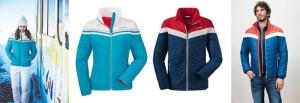 Schöffel Skibekleidung der ganz anderen Art: Die Skijacken Jonathan und Oreilly sind richtige Hingucker. Foto (c) schöffel
