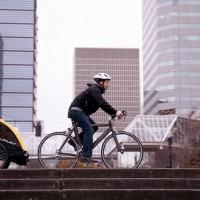 Auch Fahrradanhänger haben einen Verschleiß. Vor der ersten Fahrt im Frühling überprüft Ihr das Fahrrad und den Anhänger wie funktionsfähig noch alles ist.   Foto (c) burley