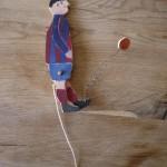 Hampelmann Fußballer mit der Laubsäge basteln: TOOOOOOR!