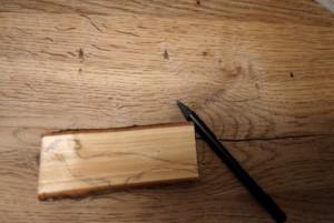 Erst aufzeichnen, dann schnitzen. Das gilt auch für Kinder.  Foto (c) kinderoutdoor.de