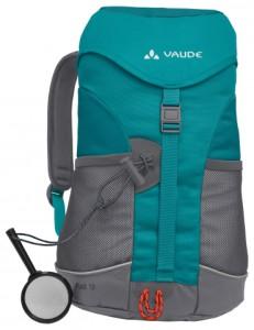 Der Kinderrucksack Puck von Vaude überzeugt mit seinen vielen Extras wie der Sitzmatte.  Foto (c) Vaude