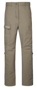Die Hosenbeine lassen sich bei der Outdoor Pants Girls hochkrempeln und mit einem Knopf befestigen.  foto (c) kinderoutdoor.de