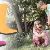 Kamik Gummistiefel Raindrops für Kinder halten von innen und außen dicht.   foto (c) kamik
