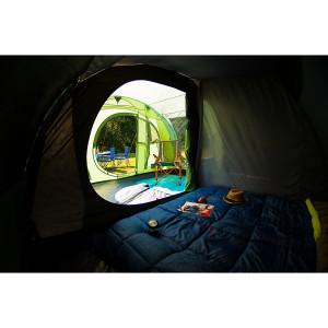 Coleman Zelte haben nun eine abgedunkelte Schlafkabine. Damit bleiben die Kinder länger in den Schlafsäcken. Foto (c) Coleman