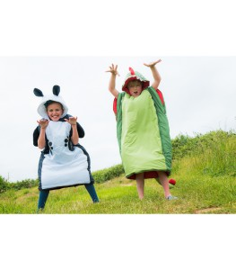 Ein KInderschlafsack der Extrakalsse: Vango Starwalker. Erhältlich im Drachen- oder Pandabären Design.  foto (c) kinderoutdoor.de
