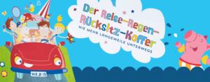 Spiele für die Autofahrt: Über 50 Ideen zum Kritzeln, spielen und rätseln finden sich im Reise-Regen-Rücksitzkoffer vom Moses Verlag. Foto (c) Moses-Verlag