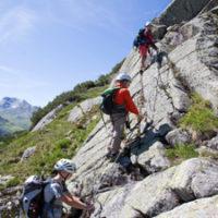 Klettersteig mit KIndern in Galtür: Der Little Ballun hat die Schwierigkeit A/B.  foto (c) mike Gabl